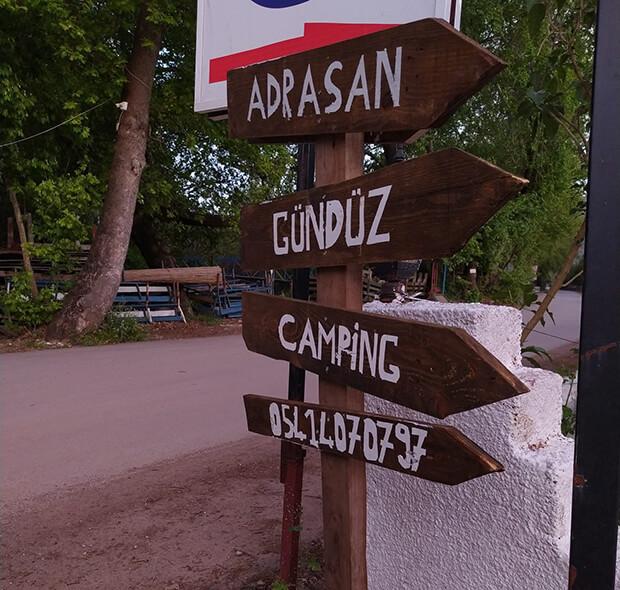 Adrasan Gündüz Camping İletişim Bilgileri
