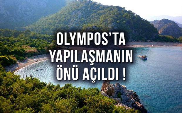 Antalya Olympos'tan Korkutan Haber! Yapılaşmanın Önü Açıldı