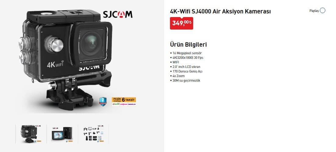 Sjcam SJ4000 Air Aksiyon Kamerası İncelemesi