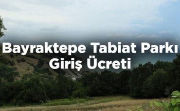 Bayraktepe Tabiat Parkı Giriş Ücreti - Samsun