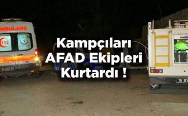 Uludağ'da Korku Dolu Anlar! Kampçıları AFAD Kurtardı!